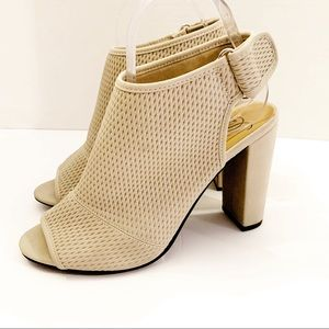 Dollhouse Perforated Light Taupe Booties 8